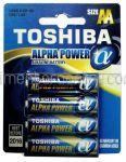 Baterii Alkaline Alpha Power LR6 TOSHIBA 4buc