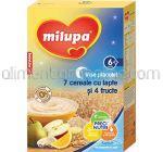 7 Cereale cu Lapte si 4 Fructe MILUPA Vise Placute 6+ 250g