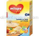 Cereale cu Lapte si 3 Fructe MILUPA 6+ 250g