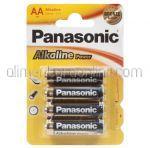 Baterii AA LR6 PANASONIC Alkaline Pro 4buc
