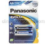 Baterii AA LR6 PANASONIC Evolta 2buc