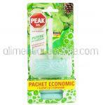Dezinfectant Odorizant Solid Pentru Toaleta PEAK WC Menta si Pin Suport + 3 Rezerve 3x40g