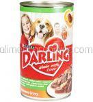 Mancare Umeda Pentru Caini DARLING Iepure, Curcan si Paste 1.2Kg