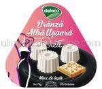 Branza Alba Usoara pentru Diete - Miez de Lapte 0% Grasime DELACO 216g (3x72g)
