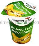 Iaurt Bio ANDECHSER Mango & Vanilie 150g