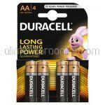 * Baterii AA LR6 Alkaline DURACELL 4buc