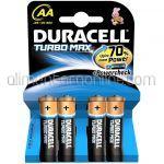 * Baterii AA LR6 Alkaline DURACELL Turbo Max Powercheck 4buc