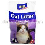 Asternut Absorbant Igienic pentru Pisici (Nisip)i ARO cu Miros de Lavanda 5Kg