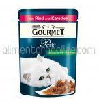 Mancare Umeda pentru Pisici GOURMET Perle cu Vita si Morcovi 85g