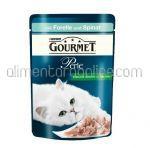 Mancare Umeda pentru Pisici GOURMET Perle cu Pastrav si Spanac 85g
