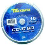 CD Inscriptibil CD-R 700Mb 52x TRAXDATA 10buc
