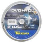 DVD Inscriptibil Dual Layer 8.5Gb 8x TRAXDATA 10Buc