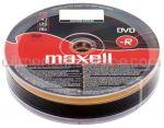 DVD Inscriptibil DVD-R 4.7Gb 16x MAXWELL Folie 10buc