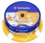 DVD Inscriptibil DVD-R 4.7Gb 16x VERBATIM 25buc