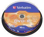 DVD Inscriptibil DVD-R 4.7Gb 16x VERBATIM 10buc