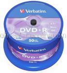 DVD Inscriptibil DVD+R 4.7Gb 16x VERBATIM 50buc