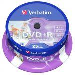 DVD Inscriptibil DVD+R 4.7Gb 16x VERBATIM 25buc