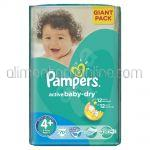 - Scutece PAMPERS Activ Baby-Dry [4+, Maxi Plus, 9-16Kg] 70buc