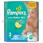 - Scutece PAMPERS Active Baby-Dry [3, Midi, 4-9Kg] 90buc