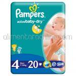 - Scutece PAMPERS Active Baby-Dry [4, Maxi, 7-14Kg] 20buc