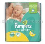 - Scutece PAMPERS New Baby-Dry [2, Mini, 3-6kg] 27buc