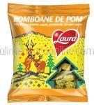 Bomboane de Pom LAURA Mix Cocos, Portocale, Strudel de Mere 184g