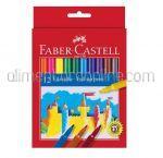 Carioci Colorate FABER CASTELL 12buc