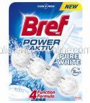 Dezinfectant Odorizant Solid Pentru Vasul de Toaleta BREF Power Aktiv Pure White 50g