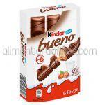 Napolitane cu Crema de Alune si Lapte KINDER Bueno Cutie 6buc 192g