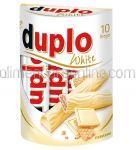 Napolitane Invelite in Ciocolata Alba cu Crema de Alune FERRERO DUPLO 10x18.2g