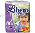 Scutece LIBERO Comfort Fit Nr.4 7-14Kg 84buc